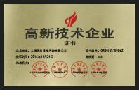 上海市'高新技術企業'